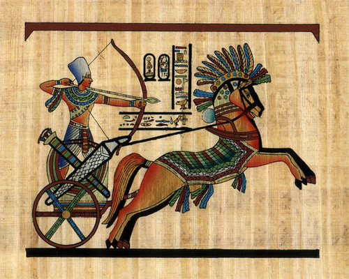 Pharaoh-Using-Bow-and-Arrow-ancient-egypt-37472339-500-400