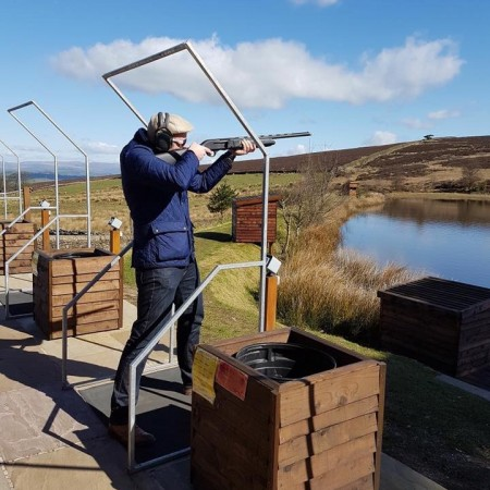 Clay Pigeon Shooting Colne, Lancashire