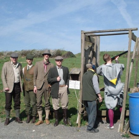 Clay Pigeon Shooting Yarnscombe Nr Barnstaple, Devon