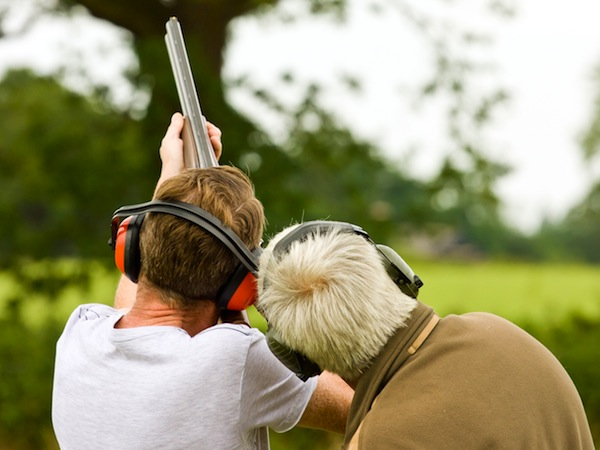 Clay Pigeon Shooting Sutton At Hone, Kent